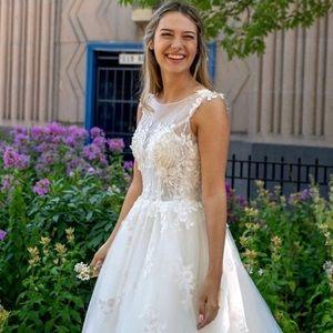 Wedding Dress ballgown in blush